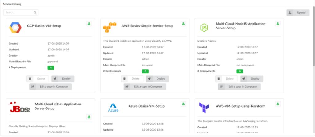 Cloudify catalog service