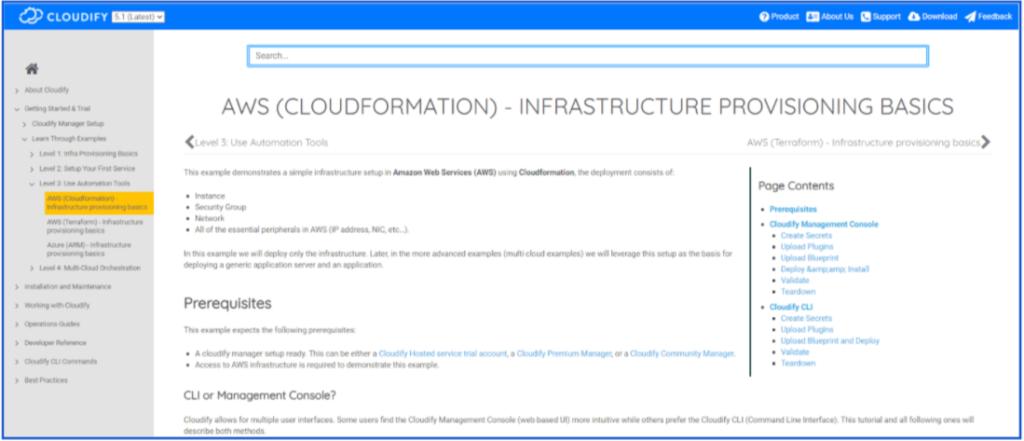 Cloudify AWS example