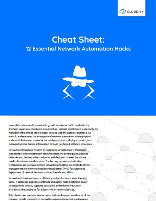 cloudify cheat sheet automation hacks
