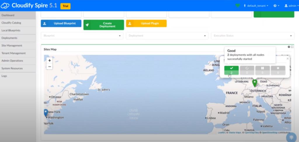 Cloudify Spire 5g network slicing DevOps